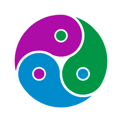 Yin yang diagram depicting a harmonic software system