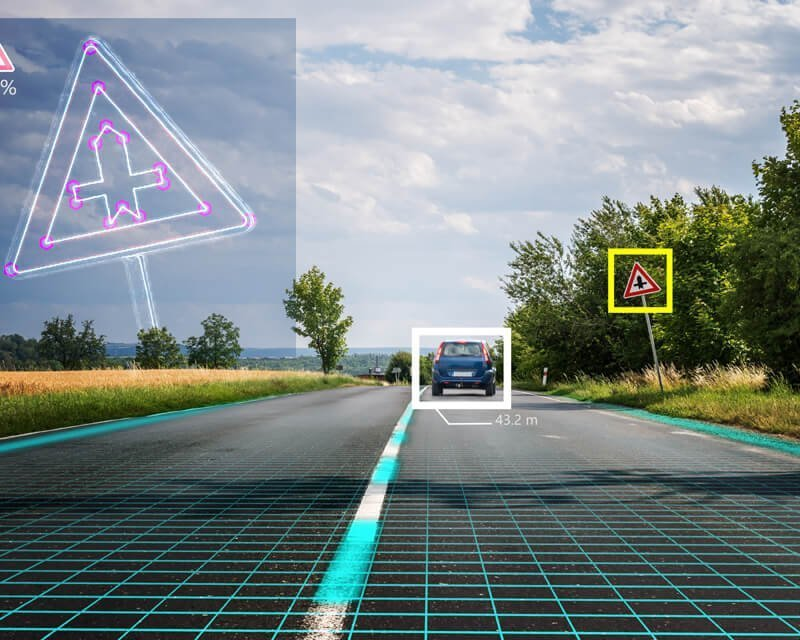 Photo Of Embedded AI & Machine Vision In Action Showing Car Simulator